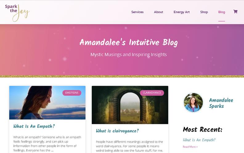 Custom blog web design