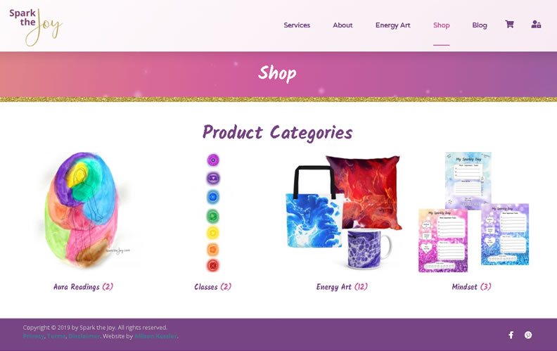 Custom eStore shop pages