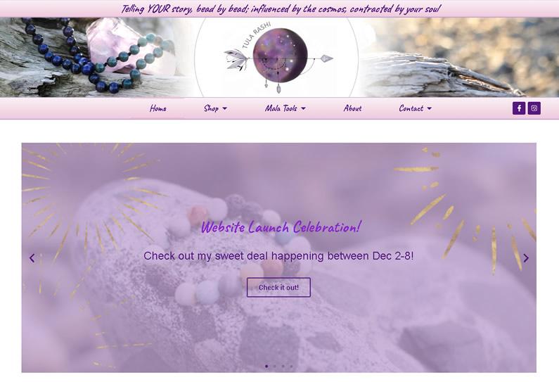 Tula Rashi Designs website design by Allison Kessler