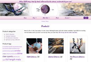 Online Shop design and catelogue for Tula Rashi Designs