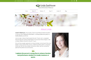 Linda Easthouse Custom-Designed About Page